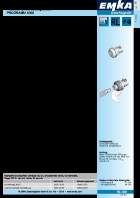 1B-380: Radialstift-Druckzylinder Programm 1000
