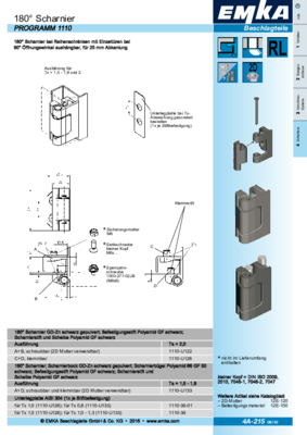 4A-215: 180° Scharnier Programm 1110