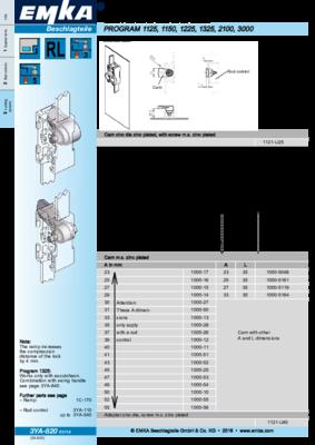 3YA-820: Cam in zinc die and mild steel Program 1125, 1150, 1225, 1325, 2100, 3000