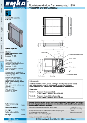 7B-120: Aluminium window frame mounted 1210 Program 1210 EMKA PROflex