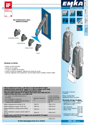 3BA-220: Mâner rabatabil cu opţiuni variabile de închidere Program 1325