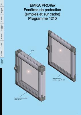 7B-100: EMKA PROflex Fenêtres de protection (simples et sur cadre) Programme 1210