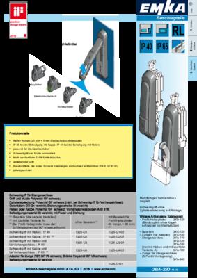 3BA-220: Schwenkgriff mit variablem Schließmitteleinsatz Programm 1325