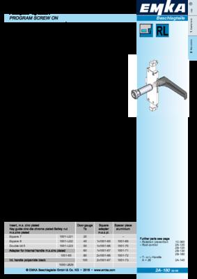 2A-180: Adapter system Program screw on