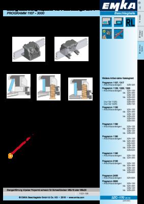 3ZC-170: Stangenführung klipsbar für Flachstange 3x14 Programm 1107 - 3000