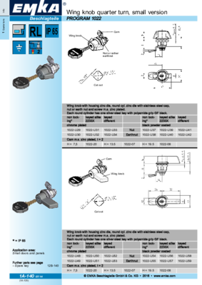 1A-140: Wing knob, small version Program 1022
