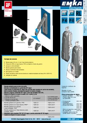 3BA-220: Maneta giratoria con módulo de cierre intercambiable Programa 1325
