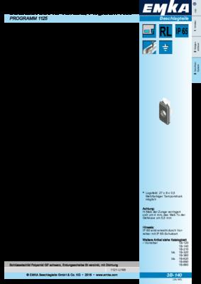 3B-140: Schlüsselschild für Vorreiber, Programm 1000 Programm 1125