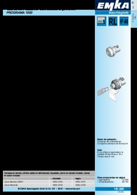 1B-380: Cilindros radiales con botón a presión Programa 1000