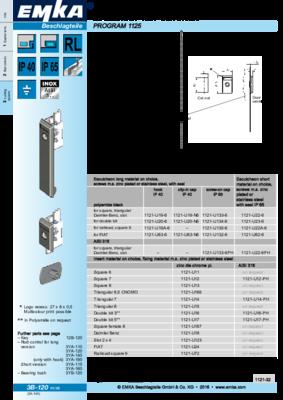 3B-120: Escutcheon 1121 with insert Program 1125