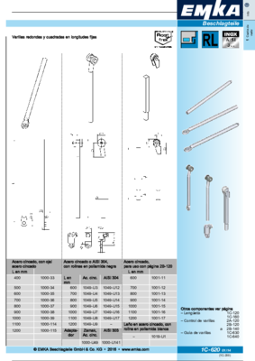 1C-620: Varillas redondas Programa universal