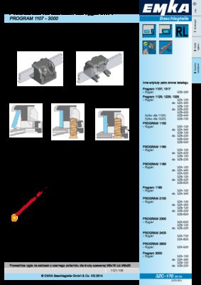 3ZC-170: Prowadnica na zatrzask dla rygla 3x14 Program 1107 - 3000