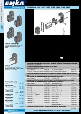 3XA-120: Locking set Program 1107, 1150, 1180, 1190, 2100, 2400, 2600
