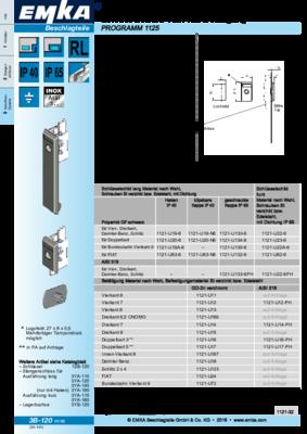 3B-120: Schlüsselschild 1121 mit Betätigung Programm 1125