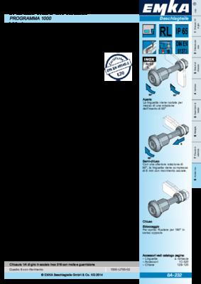 8A-232: Chiusura 1/4 di giro a compressione in acciaio inox con prolunga e linguetta altezza variabile PROGRAMMA 1000