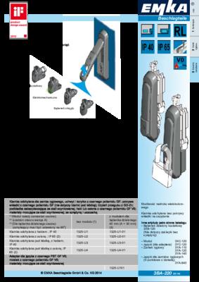 3BA-220: Klamka odchylana ze zmiennym oznaczeniem Program 1325