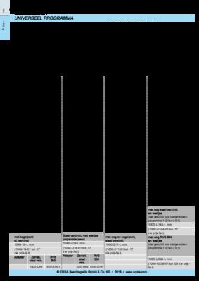 1C-620: Sluitstangen Universeel programma