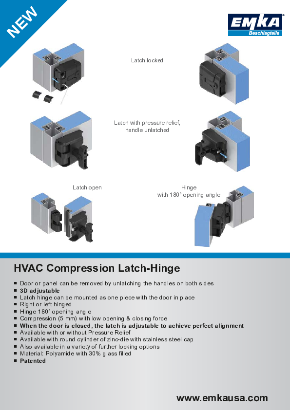 HVAC Compression Latch-Hinge