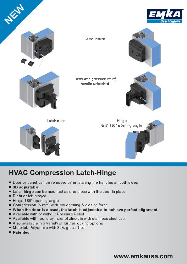 HVAC Compression Latch-Hinge