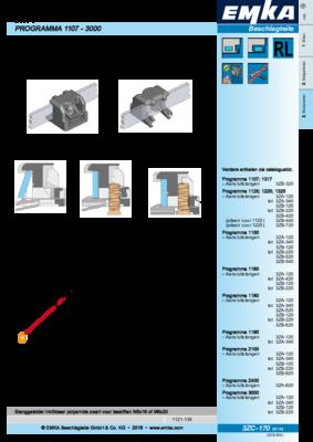 3ZC-170: Stanggeleider inklikbaar voor platte stangen 3x14 Programma 1107 - 3000