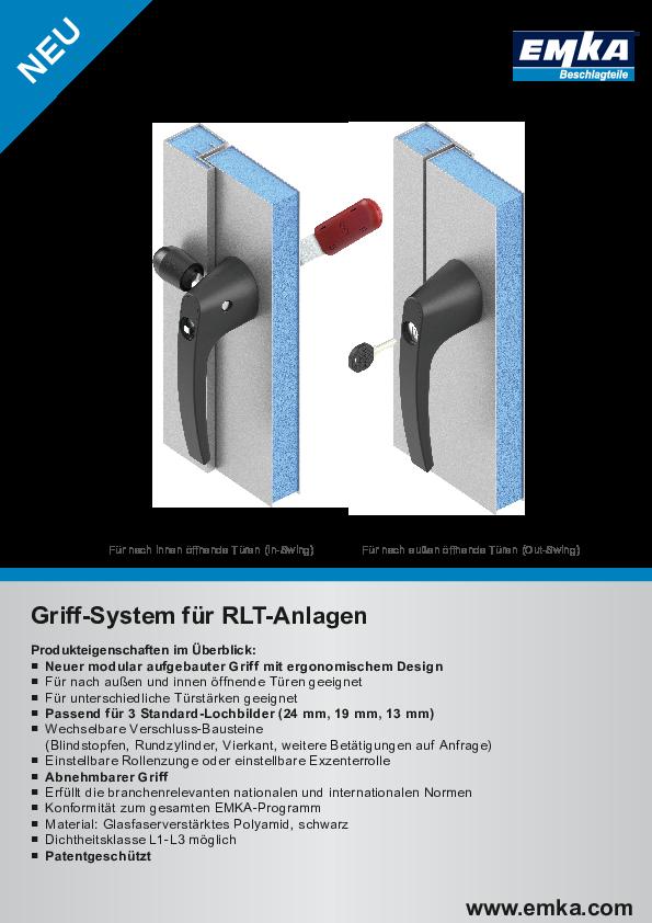 Griff-System für RLT-Anlagen