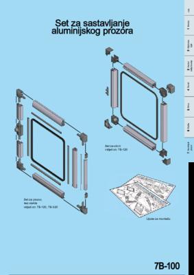 7B-100: EMKA PROflex Aluminijski prozori sa i bez okvira Program 1210