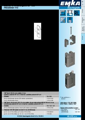 4A-215: Šarniri s otvaranjem do 180° Program 1110