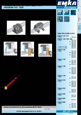 3ZC-170: Vodilice na klik, za ravne šipke 3x14 Program 1107 - 3000
