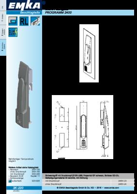 3K-220: Schwenkgriff Programm 2400