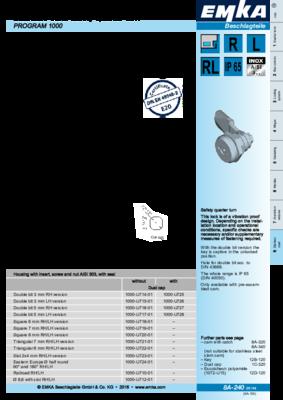 8A-240: Safety quarter turn Program 1000