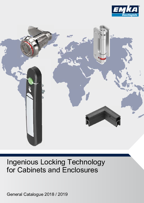 [Translate to bx_nl:] EMKA Industry catalogue - Ingenious Locking Technology for Cabinets and Enclosures