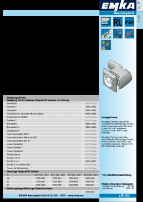 1B-170: Vorreiber für Schnellmontage Programm 1000
