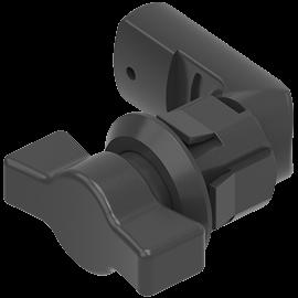 Kunststoff-Vorreiber mit Knebelbetätigung, klipsbar (1000-U695)