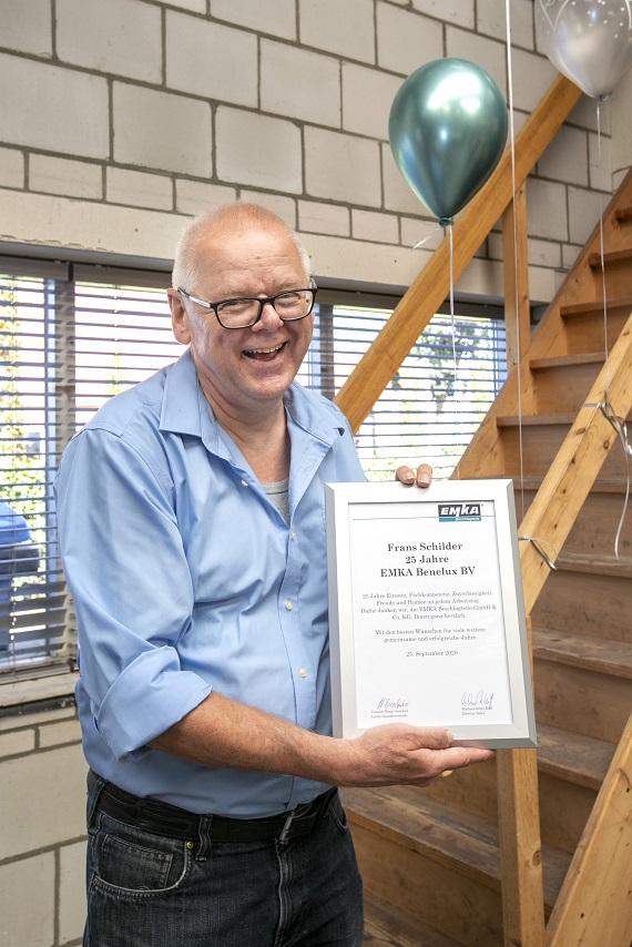 Frans Schilder nedavno je proslavio 25. godinu obljetnica u EMKA-i.