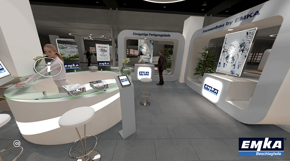3D experience: Interactive content formats are partly hidden behind the individual touchpoints.