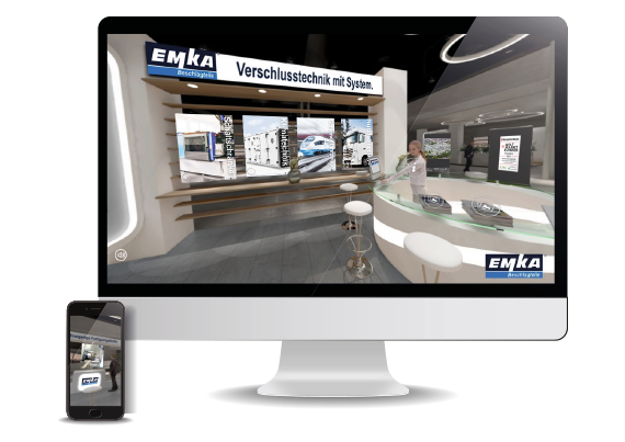 Visitors can obtain indurstry-specific information at the digital showroom.