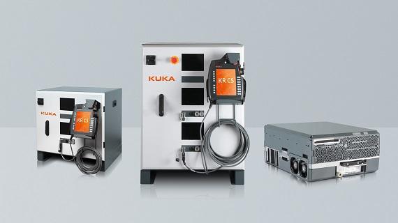 The KUKA KR C5 control cabinet with the EMKA 1325-U22 swinghandle