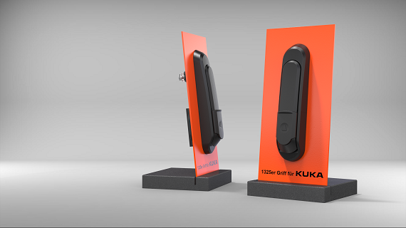 KUKA was impressed by the flat design of the pre-assembled and spring-loaded EMKA swivel handle and the use of flame-retardant plastic parts.